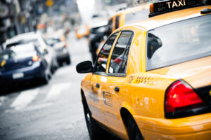 nyc taxi accidents concept. New York taxi.